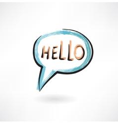 Hello in bubble speech vector