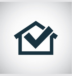 Home ok icon for web and ui on white background vector
