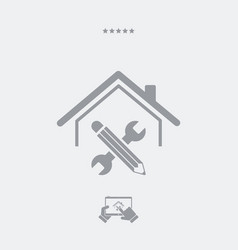 house renovation - web icon vector image