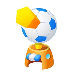 icon soccer vector image
