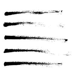 Ink brush strokes vector
