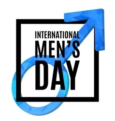 International men s day poster vector image