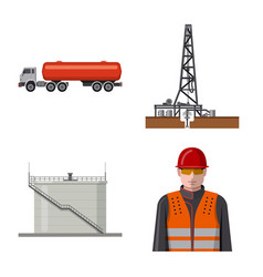 Isolated object of oil and gas icon collection of vector