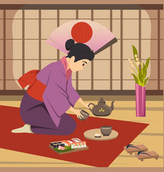 Japan culture traditions background poster vector