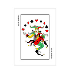 Joker card woman vector