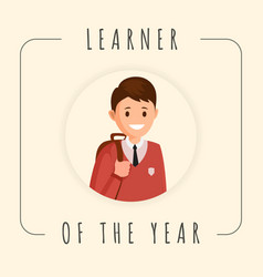 learner year banner template cartoon vector image