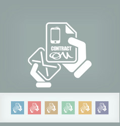 Mail with a phone contract vector