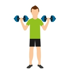 Man lifting weights isolated icon design vector