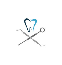 medical dental clinic dentist logo design template vector image