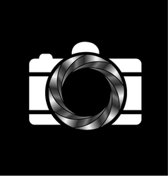 metallic aperture- photography logo vector image