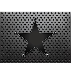 metallic star background vector image