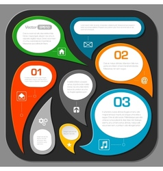 modern speech bubble layout design - infographics vector image