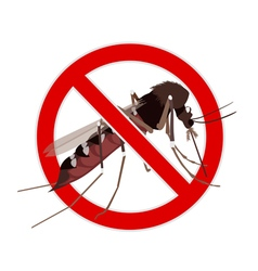 No Mosquito sign vector