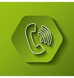 phone icon Communication design over hexagon vector image