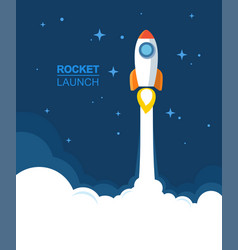 picture of flying rocket vector image