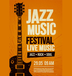 poster design template for rock zazz festival vector image