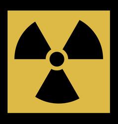 radiation icon radiation symbol vector image