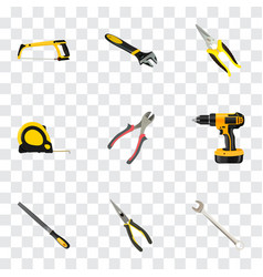 Realistic spanner wrench arm-saw and other vector