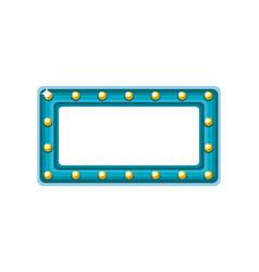 Rectangle bulbs frame vector