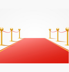 red event carpet on the white background vector image