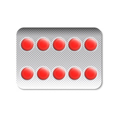 Round pills in a blister pack vector