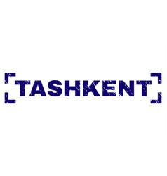 Scratched textured tashkent stamp seal between vector