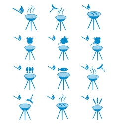 Set of 12 barbecue icons 2 vector