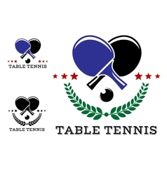 set table tennis emblems vector image