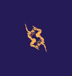 silhouette sexy girl logo vector image