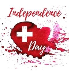 Switzerland independence day greeting card vector