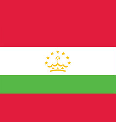 Tajikistan flag for independence day and vector