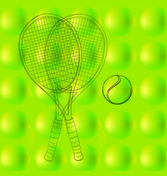 Tennis ball pattern background texture with two vector