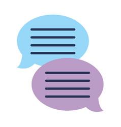 text bubble chat app vector image