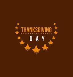 Thanksgiving day card collection style vector