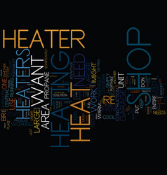 The benefits of a shop heater text background vector