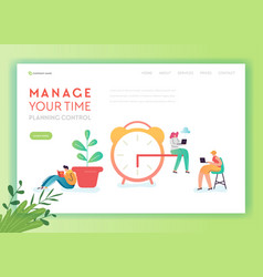 time management business strategy solutions vector image