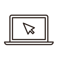 Touch screen and cursor icon vector