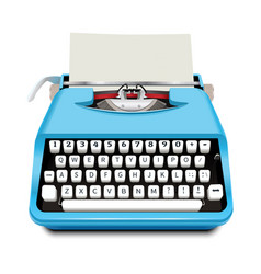 Typewriter icon realistic style vector