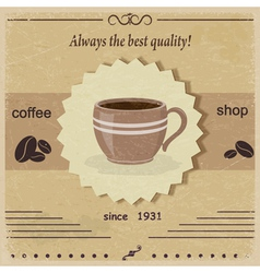 Vintage label coffee shop eps10 vector