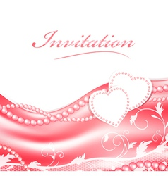 Wedding love holiday frame vector image