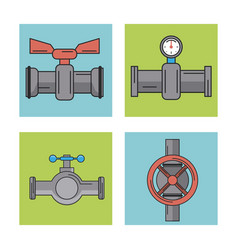 white background with frames of several pipeline vector image