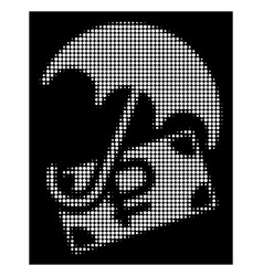 White halftone rouble financial safety icon vector