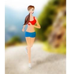 Woman running outdoor vector image