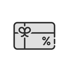 black discount icon like gift card vector image vector image