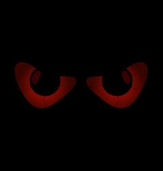 evil scary eyes black pupils halloween element vector image