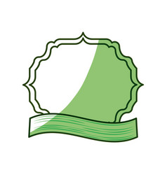 frame emblem with ribbon vector image