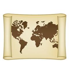 Historical world map vector