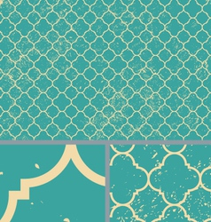 Vintage Aqua Worn Seamless Pattern Background vector image
