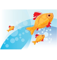 with gold fish vector image vector image