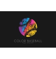 Baseball ball logo Sport logo Baseball creative vector image vector image